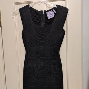 HERVE LEGER black bandaid dress